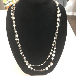 🆕 Cleo Necklace Faux Pearl Double Strand